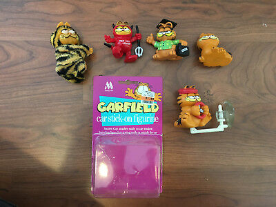 Collection of Garfield Plastic Figurines