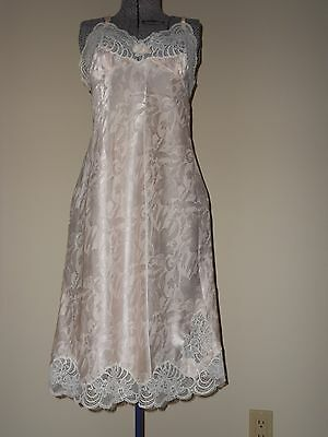 Christian Dior Pink Full Slip with Lace Trim Excellent Condition Size 32 Bust