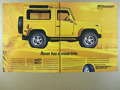 1996 Land Rover Defender 90 photo BF Goodrich T/A Tires vintage print Ad
