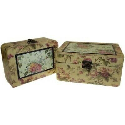 Hand crafted wooden set of two Victorian style keep sake boxes/memory boxes