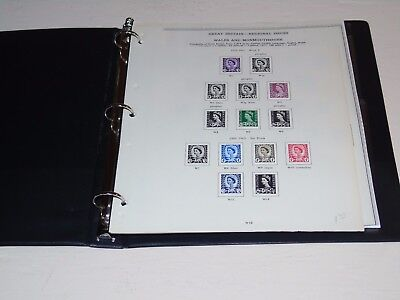 Stamp Pickers GB Wales & Monmouthshire Album Collection Estate Lot $140+