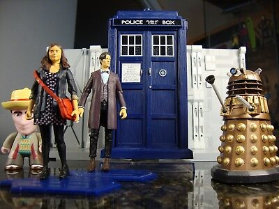 """Underground Toys Series 3.75"""" 11th DOCTOR WHO Loose Figure Lot including TARDIS"""