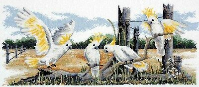 White Cockatoos - Cross Stitch Chart by Country Threads