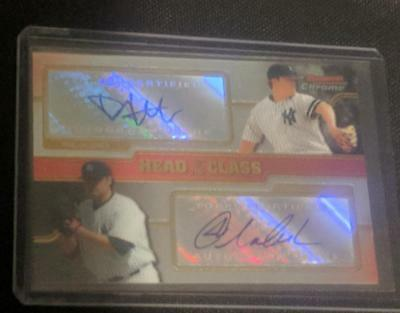2008 Bowman Chrome Head Of Class Dual /350 Auto Joba Chamberlain Philip Hughes Y