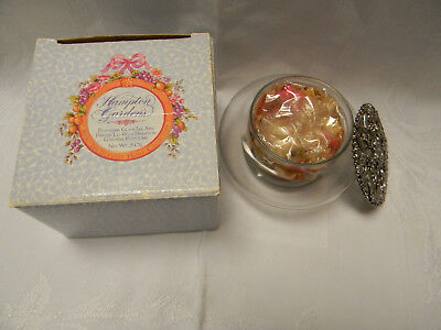 Vintage Avon Potpourri Glass Jar With Pewter Lid - New In Box - Old!!