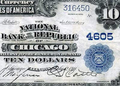 HGR 1902 $10 National ((Nat'l Bank of the Republic of Chicago)) AWESOME GRADE
