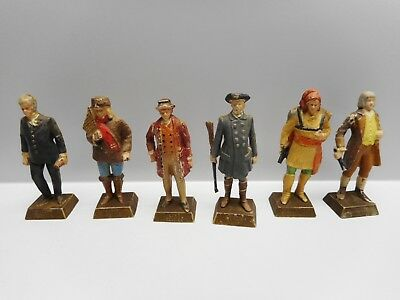 Vintage - Lot of 6 Lipton Famous Canadian Heroes - Marx 1960's