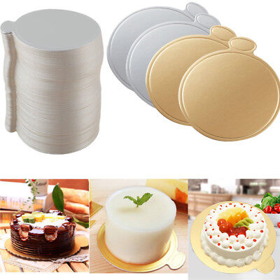 Wholesale 100pcs Single Cake Boards Round Thick Drum Board Strong Support