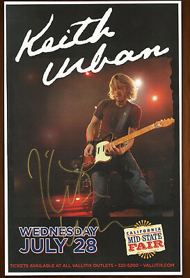 Keith Urban autographed concert poster 2010