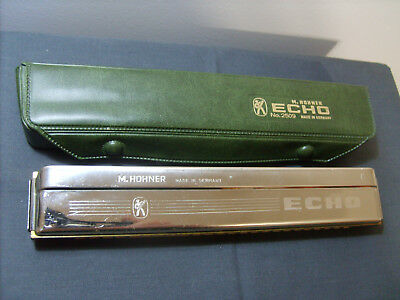 Vintage M Hohner Echo No. 2509 Harmonica Made In Germany