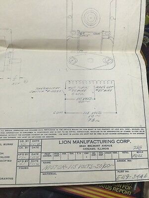 Lion Manufacturing Corp. Schematic