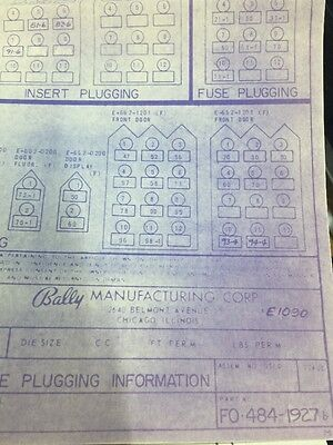 Bally Game Plugging Information Schematic