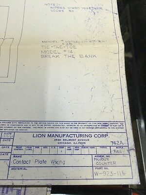 Lion Manufacturing Contact Plate Wiring Schematic W-923-11b