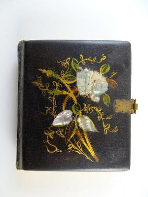 Antique Daguerreotype Union Case Leather Mother of Pearl Bijuo Book 1853 Vintage