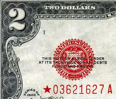 HGR 1928F $2 RED Seal ***Rare STAR*** AWESOME GRADE
