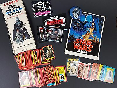 Vintage STAR WARS EMPIRE STRIKES BACK Books Cards Stickers Toy Catalog Inserts