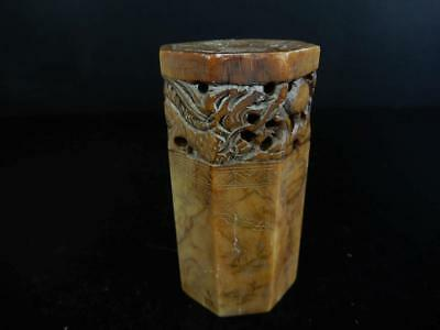 H7036: Chinese Stone sculpture Chop stamp material SEALS Calligraphy tool