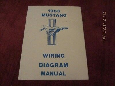 1966 mustang wiring diagram manual - 12 pages, including covers