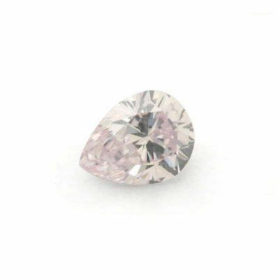 Natural Pink Diamond 0 .20 Ct Fancy GIA Certified Light Color Pear Cut SI