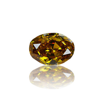 Yellow Natural Diamond 0.83 Ct Fancy Deep Brown Color GIA Certified Oval Cut
