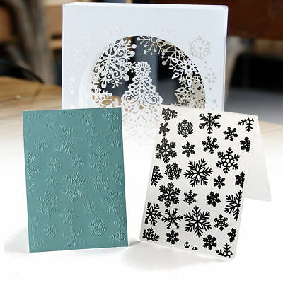 Christmas Snowflake Embossing Folder Scrapbooking DIY Album Paper Card Template