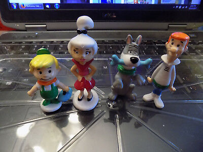 Vtg The Jetsons Figures Lot George Astro Dog Elroy son Judy PVC 1990 Applause