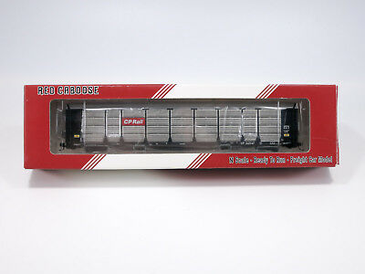 N Scale Red Caboose CP Rail Enclosed Auto Rack #542547 RM-19135 Canadian Pacific