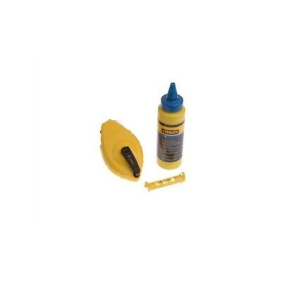 Chalk Line 30M Chalk And Level Blue Stanley Stainless Steel Ergonomic Hand Tool