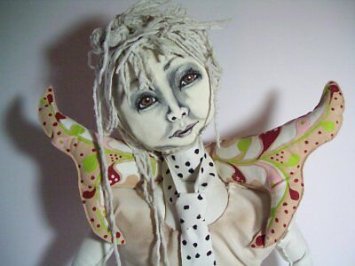 "OOAK Hand Crafted Art Doll ""Skinny Legs and Fairy Wings"""