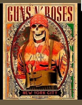 Guns N Roses Axl Rose Poster Msg Nyc  2017 Ltd Of 300 Arian Buhler Lithograph