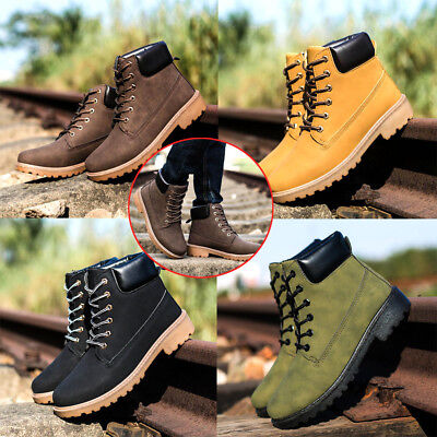 Mens High Top Martin Boots Fur Lined Autumn Winter Warm Shoes Fashion Sneakers