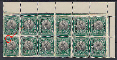 B171031 PLATE FLAW = V1 Open D in SUIDAFRICA MNH South West Africa 1926 London
