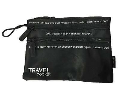 """Miamica Zippered """"Travel Pocket"""" Pouch"""