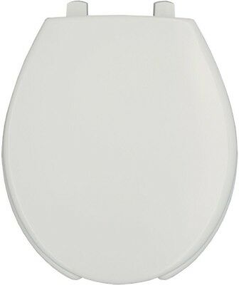 BEMIS Durable Heavy-Duty Plastic STA-TITE Round Open Front Toilet Seat In White