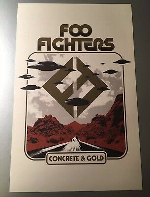 Foo Fighters Lithograph Poster Concrete & Gold