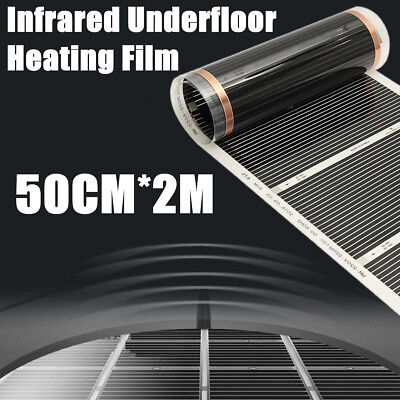 60°C Electric Home Floor Infrared Underfloor 220V Heating Warm Film Mat 50cmx2m