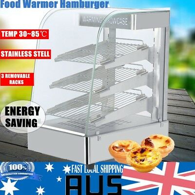 Stainless Steel Commercial Food Warmer Hot Display Cabinet Pie Chicken Showcase