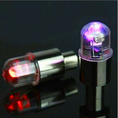 Universal Wheel Tyre Tire Air Valve Stem Cap RGB LED Light Lamp Bulb 4 pcs/1