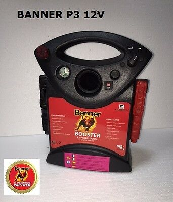 Banner PowerBack Booster P3 Professional EVO 12V 1600A Start-Up Aid 28x16x35cm