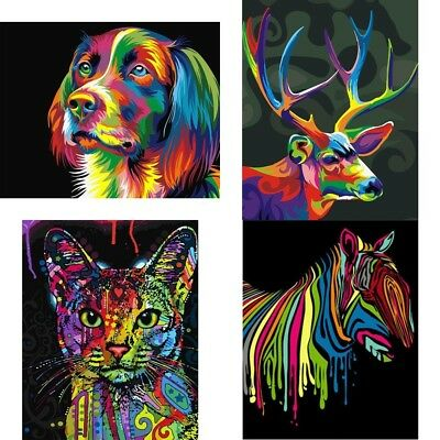 Oil Painting Wall Decor Canvas Oil Paint Coloring By Number Drawing Animals New