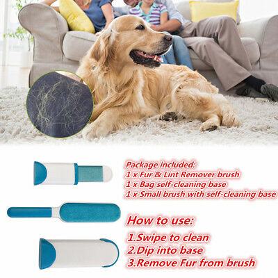 Hurricane Fur Wizard Pet Fur Lint Remover Reusable With Self-Cleaning Base aukM
