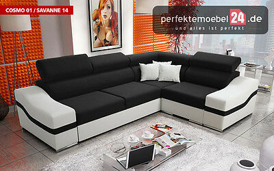 PM_SAN05 AKTION! Schlafcouch Wohnlandschaft Bettkasten Polstergarnitur % SALE