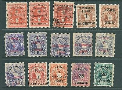 GUATEMALA - Railway stamps and PROVISIONAL overprints 1886-1903