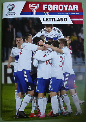 Off. Programme 2018 FIFA WORLD CUP QUALIFIER FAROE ISLANDS v LATVIA