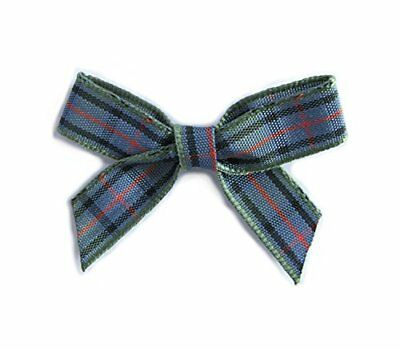 Flower of Scotland Tartan Bows. Pack of 20 in 10mm ribbon. Available in