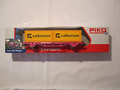 Wagon plat transport 2 container - PIKO 96028