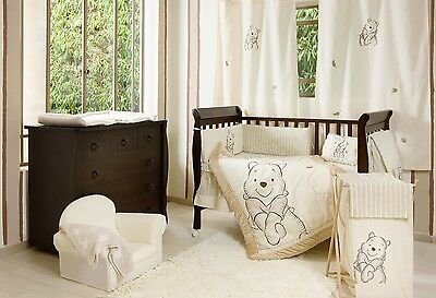 4 Pices Baby Bedding Set Winnie the Pooh Baby Crib Bedding Collection