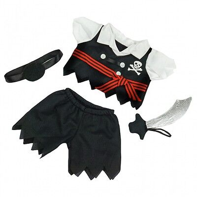 "Carnival Pirate Outfit Teddy Bear Clothes to fit 8""-10"" bears"