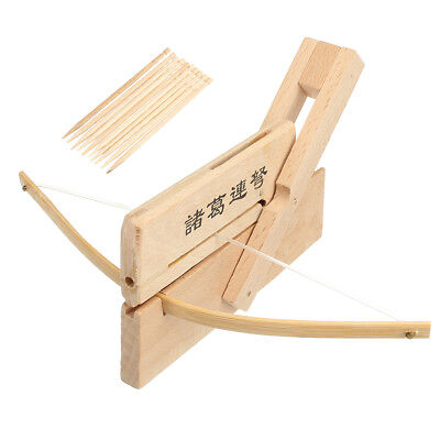 Mini Pinewood Zhuge Crossbow Crafts Chinese Repeating Crossbow Chu-Ko-Nu Toy
