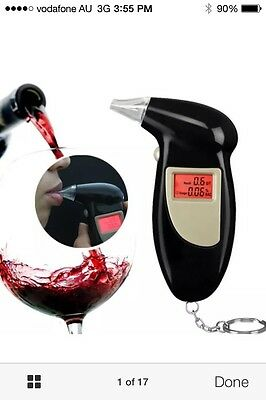 Portable digital Alcohol Breathalyser Breath tester LCD screen Police grade